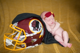 Newborn Redskin Photo | Jamie Romaezi Photography | Northern VA Newborn Photographer
