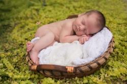 Outdoor boy newborn photo