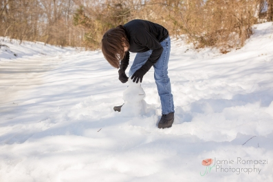 snow man building