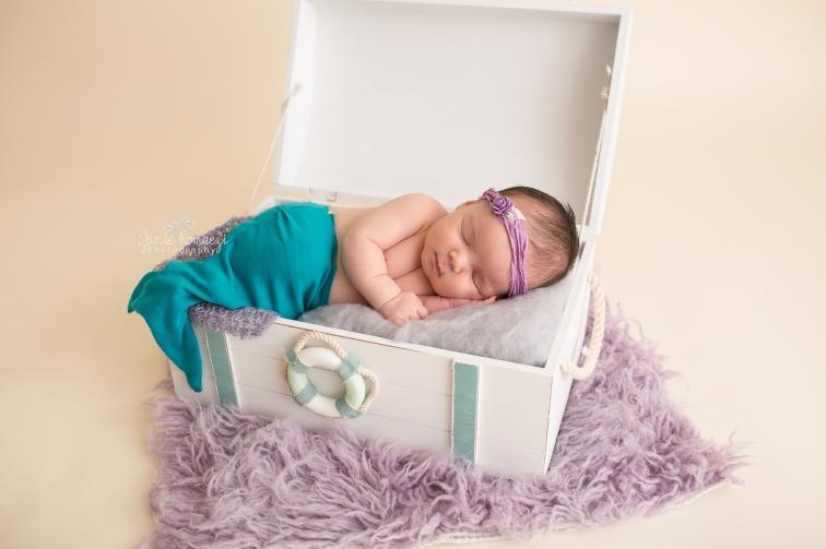 Newborn mermaid photo jamie romaezi photography-2