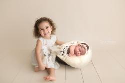Jamie Romaezi Photography Posed Newborn Photo siblings