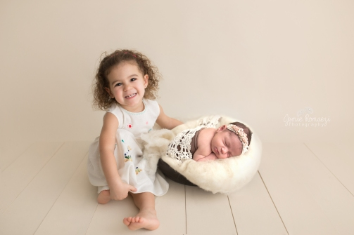 Jamie Romaezi Photography Posed Newborn Photo siblings
