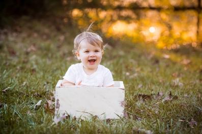 1 year old outdoor milestone photo.