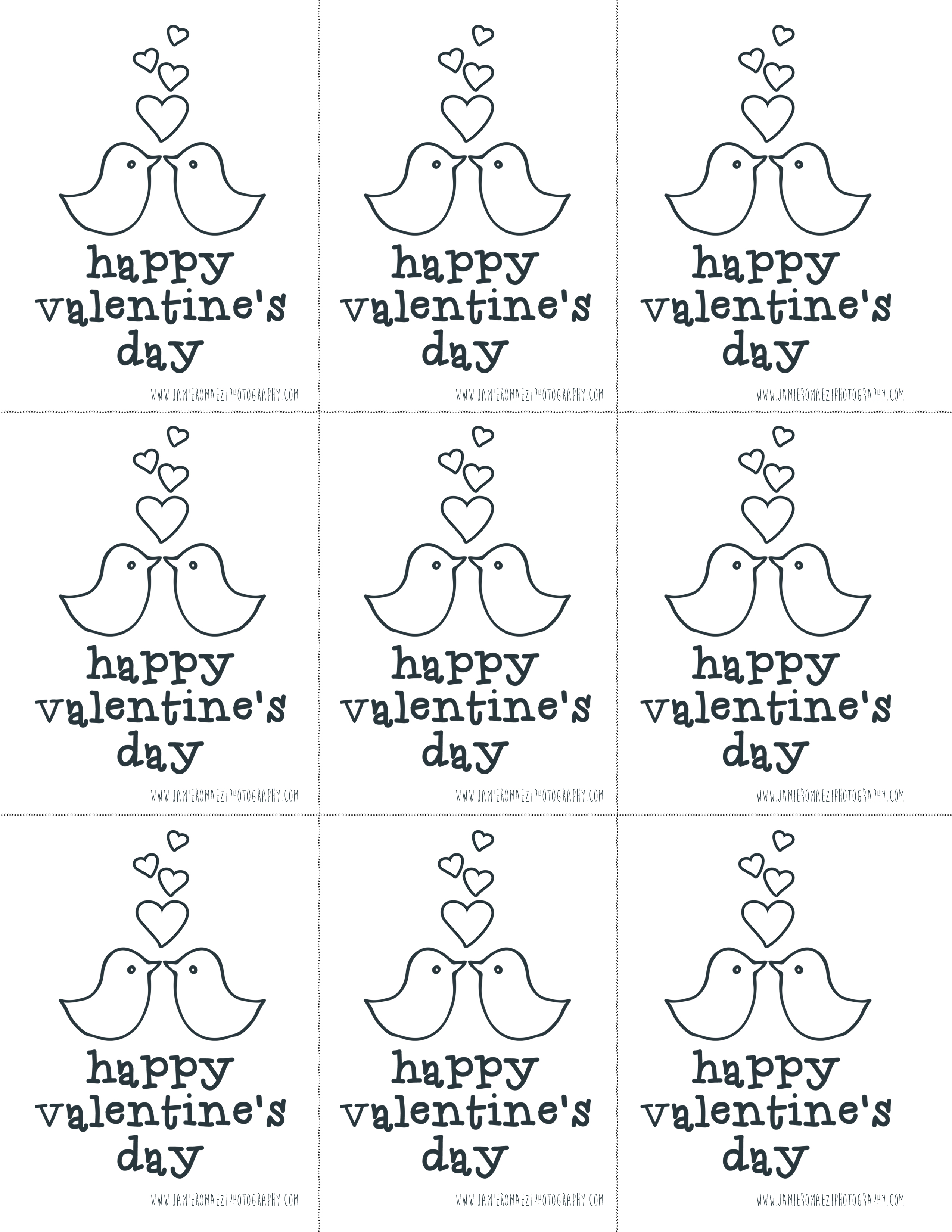 Download Your Free Valentines Day Coloring Cards Here